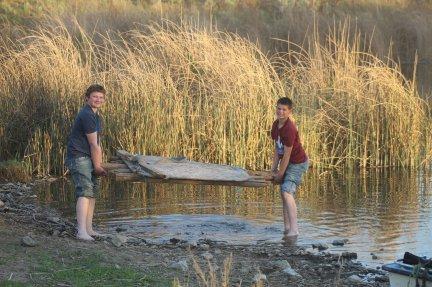 Kade and Kaine raft May 2020