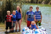 Kids at lake June 2020